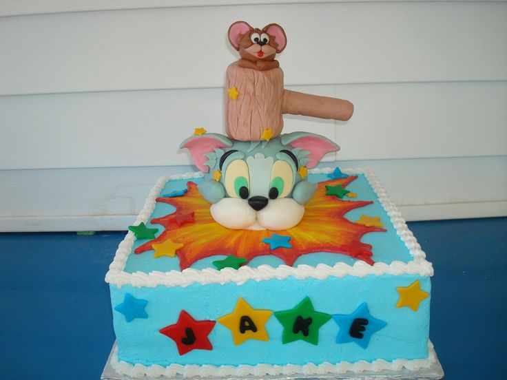 tom and jerry cake tutorial