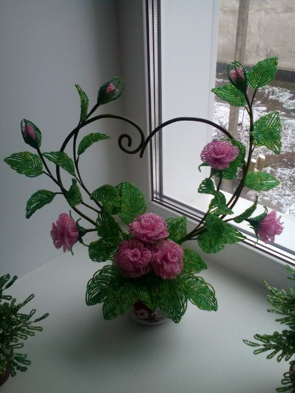 french beaded flowers tutorial