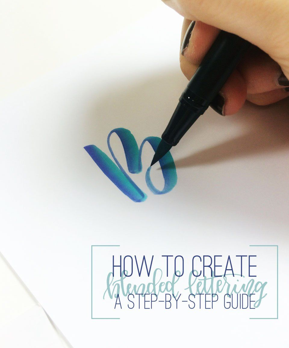 lettering tutorial step by step