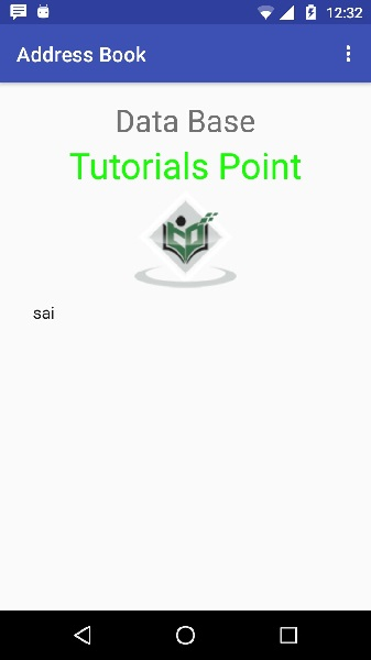 menu in android tutorial point