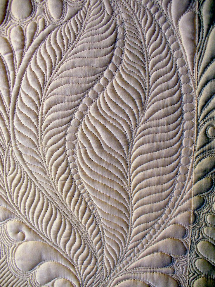 free motion quilting feathers tutorial