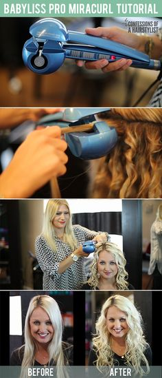 babyliss curling iron tutorial