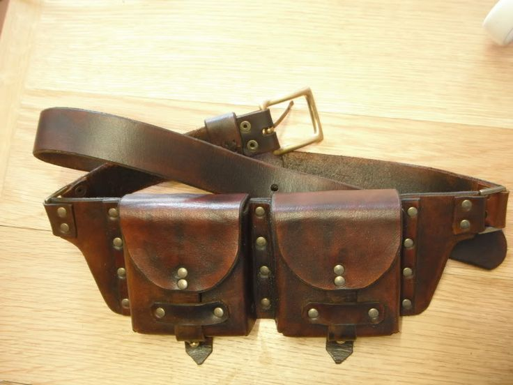 leather belt pouch tutorial