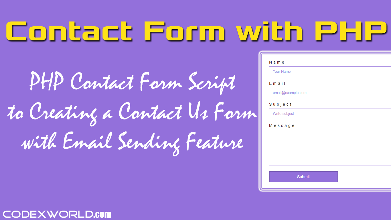phpmailer contact form tutorial