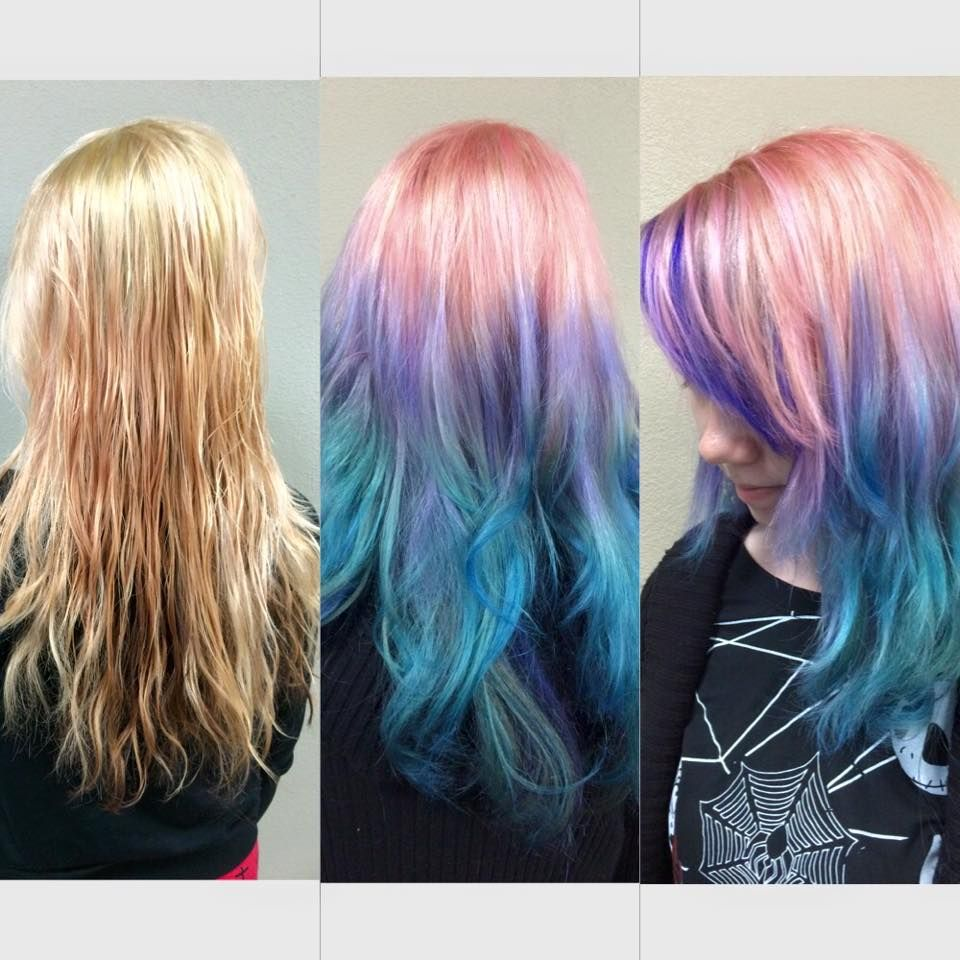purple and blue ombre hair tutorial